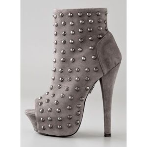 Rock & Republic Studded Open Toe Booties